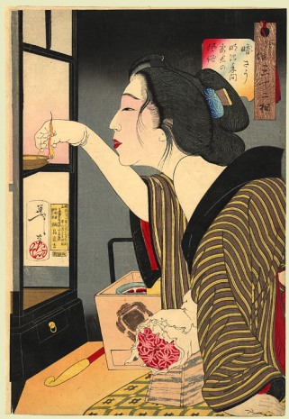 Looking dark; the appearance of a wife during the Meiji era